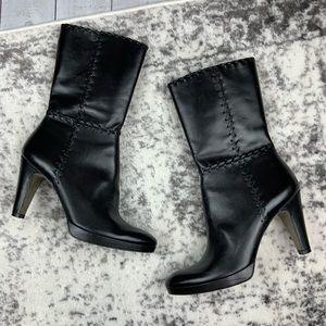 Antonio Melani Dixie black leather boots